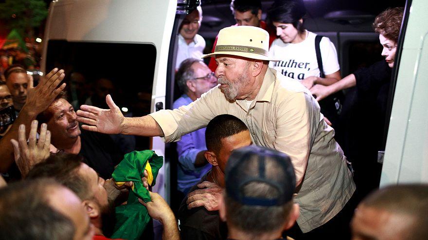 Lula en Sao Leopoldo, Rio Grande do Sul