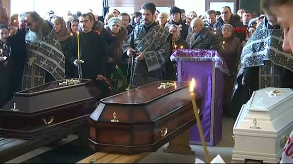 Funerals held for victims of Russia's shopping mall fire