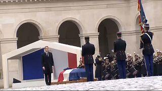 Fransa jandarma Beltrame'ı özel törenle uğurladı