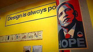 Diseño gráfico cargado de política