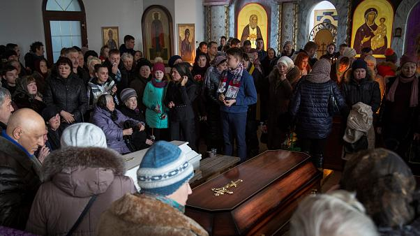 Отпевание жертв пожара в Кемерове