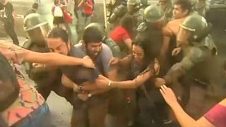 Demonstrators clash with police in Chile over for-profit school ruling