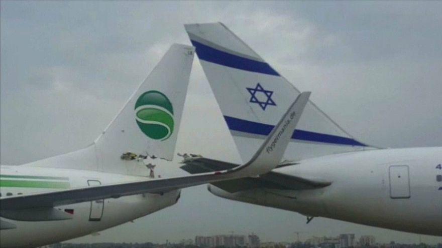 Israel german plane collide
