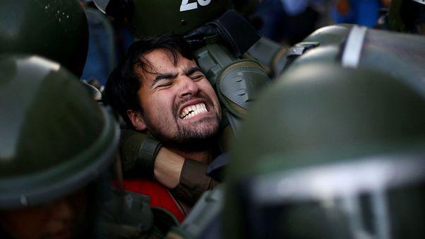 Manifestação no Chile termina em confrontos