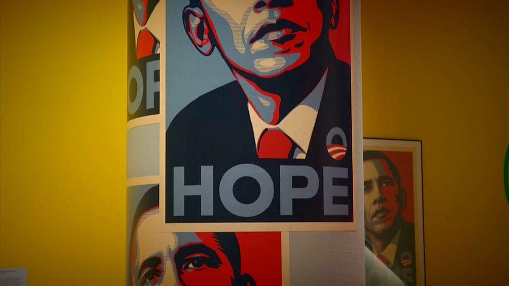 "Ein ""Hope""-Plakat zu Barack Obama"