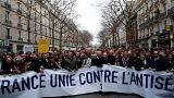 Марш против антисемитизма в Париже