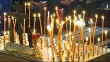 برگزاری مراسم خاکسپاری برای کودکان قربانی آتشسوزی در سیبری
