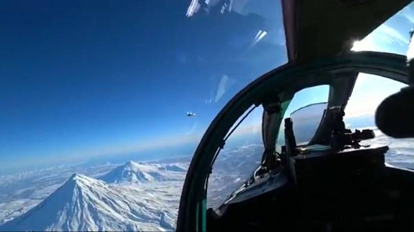 Russischer Übungsflug am Nordpol