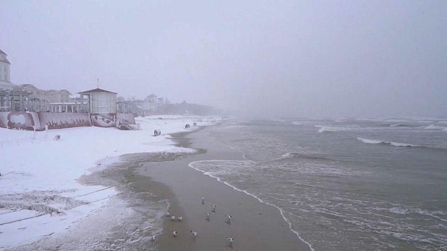 Снег вернулся в Германию и Польшу