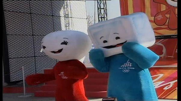 Neve e Gliz, le mascotte di Torino 2006.