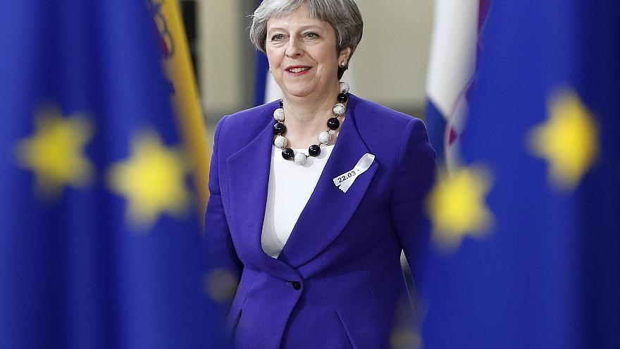 UK Prime Minister Theresa May promises a bright post-Brexit future.