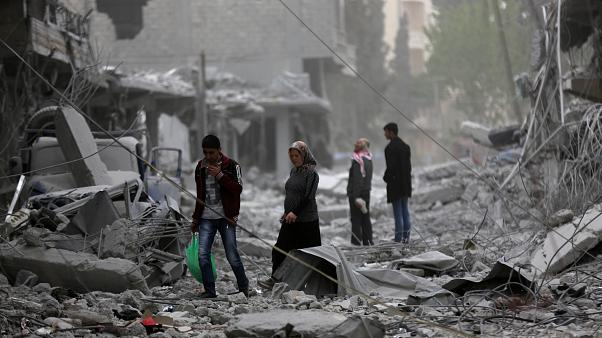 Menschen in Afrin