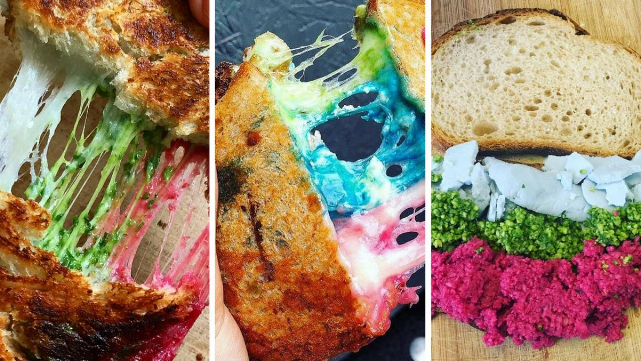 Rainbow toasts for Easter