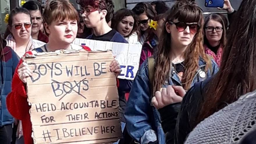 Protesters rally across Ireland over handling of high-profile rape trial