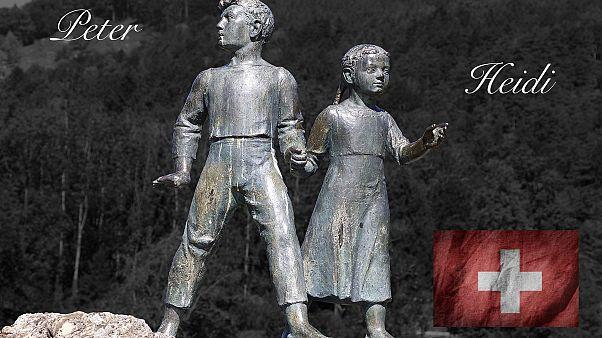 Statue representing Heidi