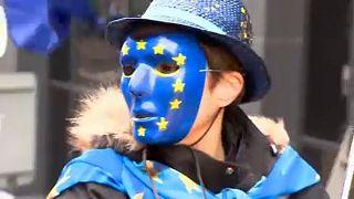 Brexit karşıtları Londra'da eylem yaptı