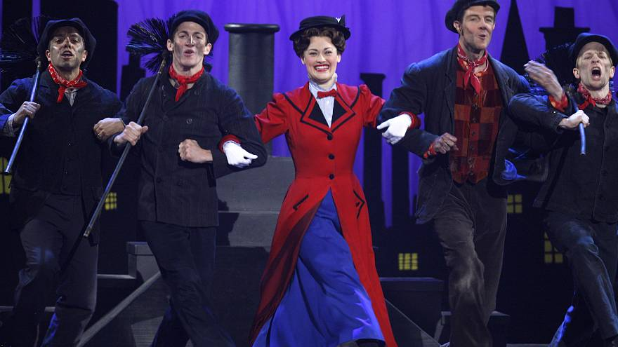 The cast of Mary Poppins at the 2007 Tony Awards in New York.