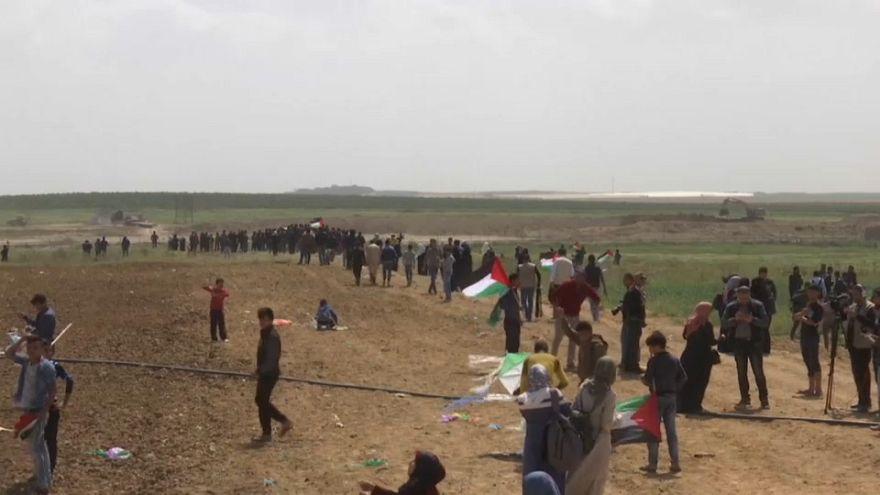 Filistinliler 30 Mart Toprak Günü'nde İsrail işgalini protesto etti