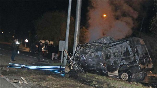 هفده مهاجر ایرانی، افغان و پاکستانی در تصادف مینیبوس در ترکیه جان باختند