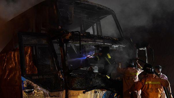 20 die in Thailand bus fire