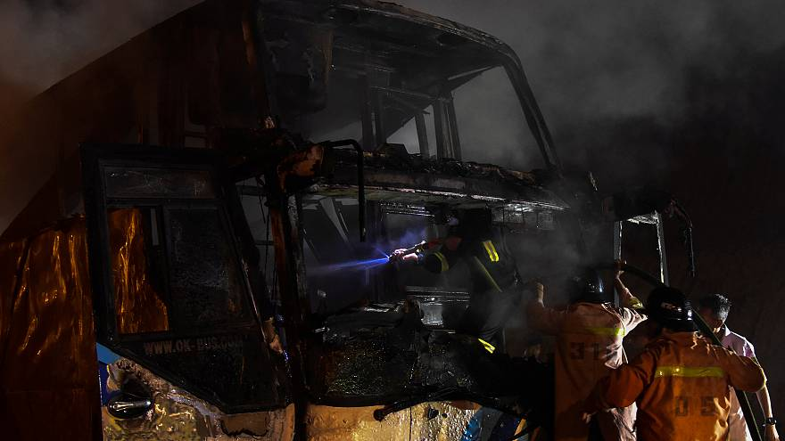 20 die in Thailand bus fire