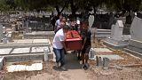 Funerales tras la masacre de 68 detenidos en Venezuela