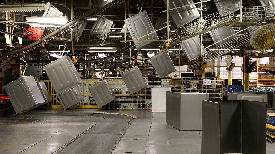 Waschmaschinen in einem Whirlpool-Werk in Ohio, 3. Okotober 2017
