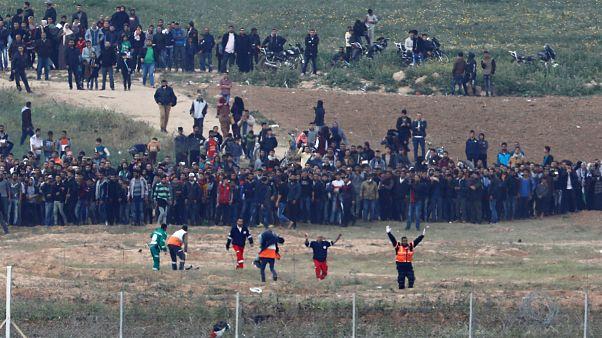 تظاهرکنندگان فلسطینی