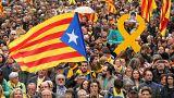 Le proteste a Barcellona dopo l'arresto di Puigdemont in Germania