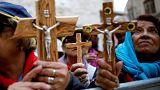 Un momento della Via Crucis a Gerusalemme