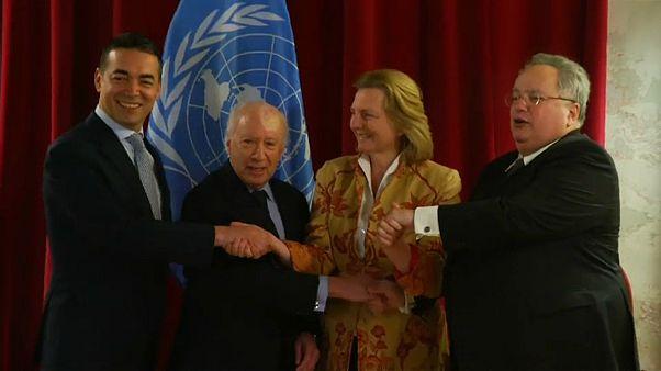 L'incontro a Vienna tra i ministri degli Esteri greco, macedone e austriaco