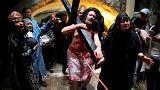 Reconstituição dos últimos passos de Cristo na Cidade Velha de Jerusalém