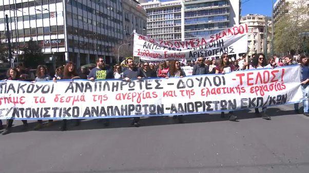 Violentas protestas de los profesores en Atenas