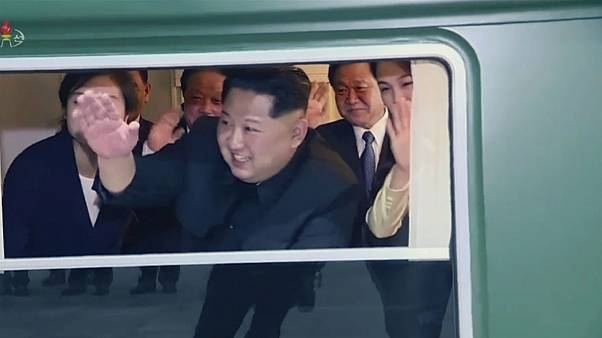 قطار لوکس کیم جونگ اون برای سفر به پکن