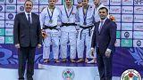 Cuatro georgianos en el podio de la categoría de menos de 60 kilos