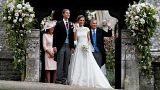 David Matthews saludando en la boda de Pippa