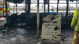 Travel chaos after bus fire at UK's Stansted Airport
