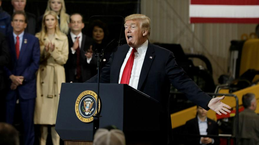 Trump delivers remarks on the Infrastructure Initiative in Richfield