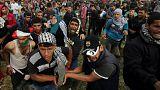 درگیری خونین میان فلسطینی ها و نیروهای ارتش اسرائیل در نوار غزه