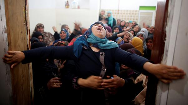 Luto en los territorios palestinos tras la masacre en Gaza