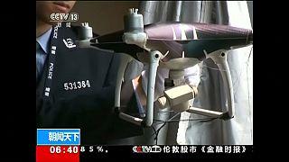 شاهد: ضبط شبكة لتهريب الهواتف الذكية بواسطة طائرات بدون طيار في الصين