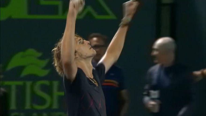El alemán Alexander Zverev en la final del Masters 1.000 de Miami