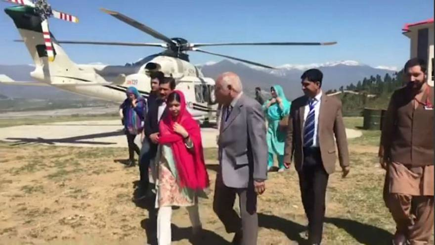 Malala returns home for first time since she was shot by Taliban in 2012