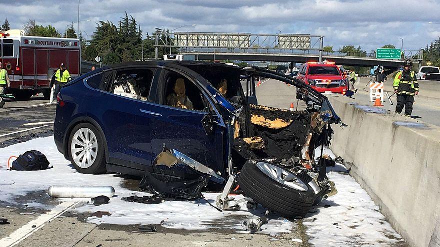 Tesla Model X crashed on California road, killing the driver.
