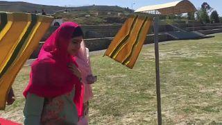 Malala Yousafzai zum ersten Mal seit dem Attentat in der Heimat
