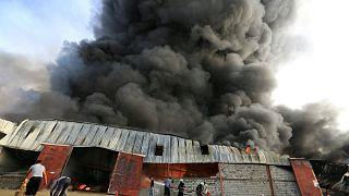 Yemen'de BM gıda depoları yandı