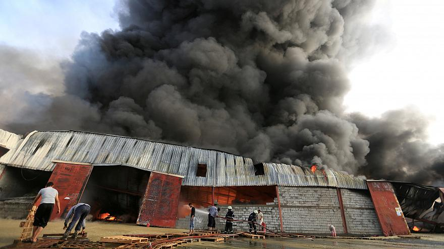 UN WFP warehouses in Yemen destroyed by fire.