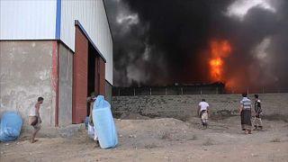 Segélyraktár égett le Jemenben