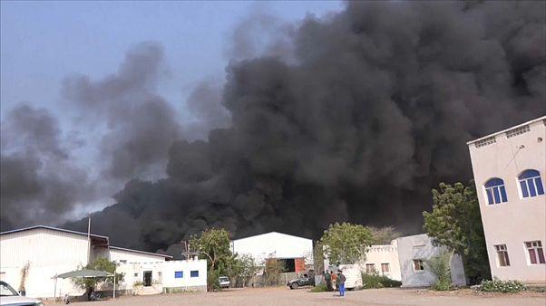 Jemen: Brand in Lagerhallen mit UN-Hilfsgütern