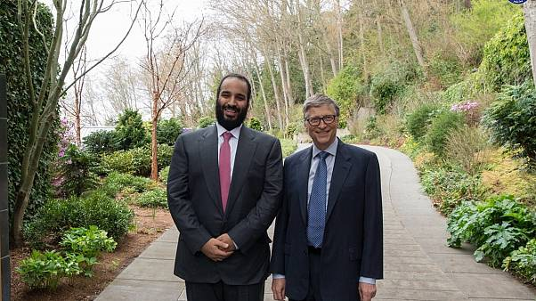 دیدار ولیعهد عربستان و بیل گیس، بنیانگذار شرکت مایکروسافت